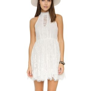 Free People Lace Verushka Mini Dress White